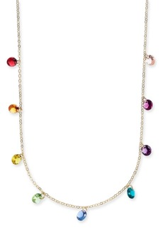 """INC International Concepts I.n.c. Gold-Tone Crystal Rainbow Shaky Statement Necklace, 16"""" + 3"""" extender, Created for Macy's"""