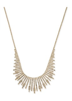 "INC International Concepts Inc Gold-Tone Crystal Starburst Statement Necklace, 17"" + 3"" extender, Created for Macy's"