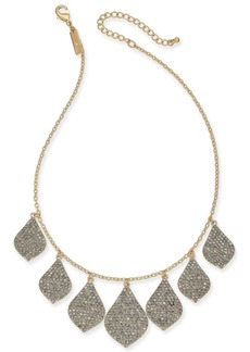 "INC International Concepts Inc Gold-Tone Crystal Statement Necklace, 16' + 3"" extender, Created for Macy's"
