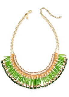 """INC International Concepts I.n.c. Gold-Tone Multi-Bead Statement Necklace, 18"""" + 3"""" extender, Created for Macy's"""