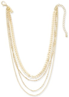 """INC International Concepts I.n.c. Gold-Tone Multi-Chain Layered Choker Necklace, 12"""" + 3"""" extender, Created for Macy's"""