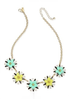 """INC International Concepts I.n.c. Gold-Tone Multi Flower Statement Necklace, 17"""" + 3"""" extender, Created for Macy's"""