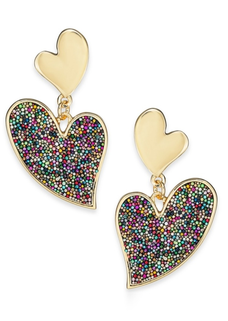 INC International Concepts Inc Gold-Tone Multicolor Bead Drop Earrings, Created For Macy's