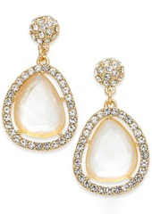 INC International Concepts I.n.c. Gold-Tone Pave & Stone Drop Earrings, Created for Macy's