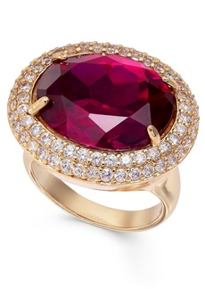 INC International Concepts Inc Gold-Tone Pave & Stone Statement Ring, Created For Macy's