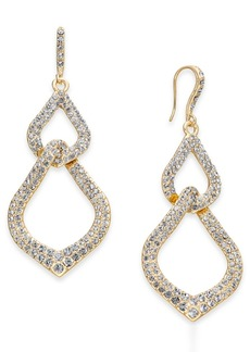 INC International Concepts Inc Gold-Tone Pave Interlocking Link Drop Earrings, Created for Macy's