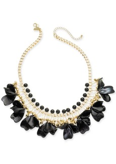 "INC International Concepts Inc Gold-Tone Petal Shaky Statement Necklace, 18"" + 3"" extender, Created for Macy's"