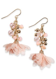 INC International Concepts Inc Gold-Tone Shaky Bead Drop Earrings, Created For Macy's