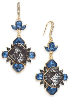 INC International Concepts I.n.c. Gold-Tone Stone & Lace Drop Earrings, Created for Macy's