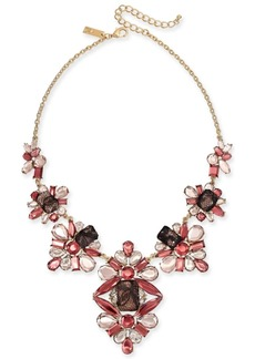 """INC International Concepts I.n.c. Gold-Tone Stone & Lace Statement Necklace, 16"""" + 3"""" extender, Created for Macy's"""