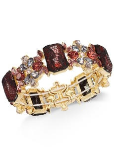 INC International Concepts I.n.c. Gold-Tone Stone & Lace Stretch Bracelet, Created for Macy's