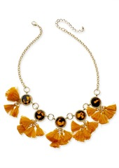 """INC International Concepts Inc Gold-Tone Tortoise-Look & Multi-Tassel Statement Necklace, 18"""" + 3"""" extender, Created for Macy's"""