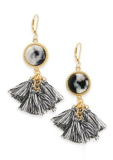 INC International Concepts Inc Gold-Tone Tortoise-Look Multi-Tassel Drop Earrings, Created for Macy's