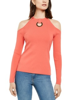 INC International Concepts Inc Grommet-Detail Cold-Shoulder sweater, Created for Macy's