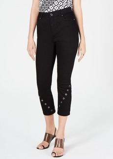 INC International Concepts Inc Grommet-Detail Skinny Crop Jeans, Created for Macy's