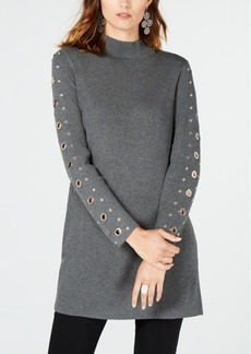 INC International Concepts Inc Grommet-Detail Tunic Sweater, Created for Macy's