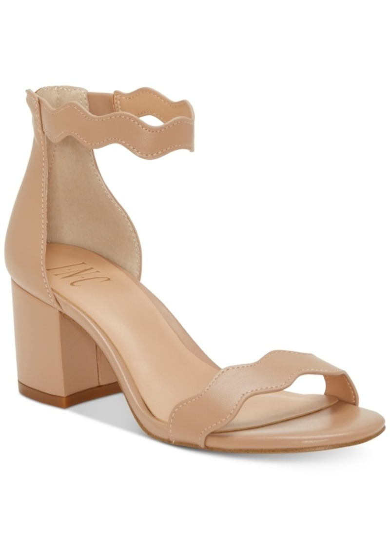 a31793f6d24b INC International Concepts I.n.c. Hadwin Scallop Block-Heel Sandals ...
