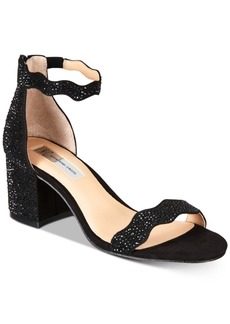 INC International Concepts I.n.c. Hadwin Scallop Block-Heel Sandals, Created for Macy's Women's Shoes