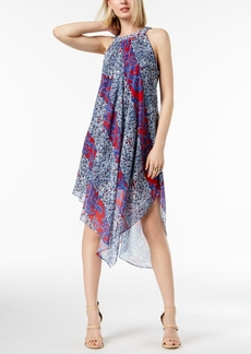 I.n.c. Petite Printed Halter Midi Dress, Created for Macy's