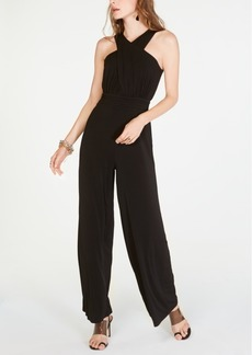 INC International Concepts Inc Halter-Neck Wide-Leg Jumpsuit, Created for Macy's