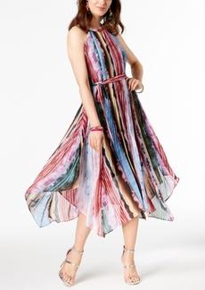 INC International Concepts I.n.c. Pleated Halter Rainbow Dress, Created for Macy's