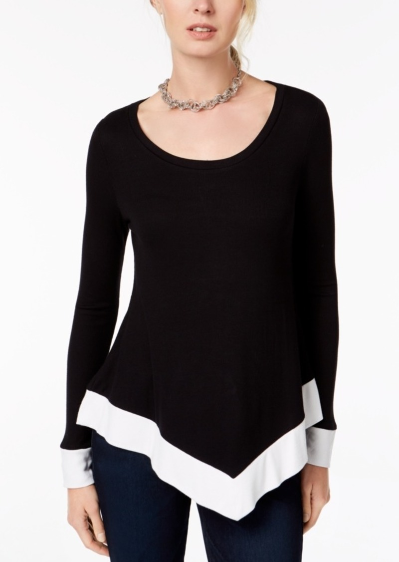 INC International Concepts Inc Handkerchief-Hem Top, Created for Macy's
