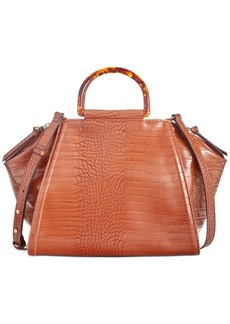 INC International Concepts Inc Hazell Croco-Embossed Satchel, Created for Macy's