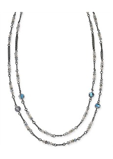 """INC International Concepts I.n.c. Hematite-Tone Beaded Statement Necklace, 60"""" + 3"""" extender, Created for Macy's"""