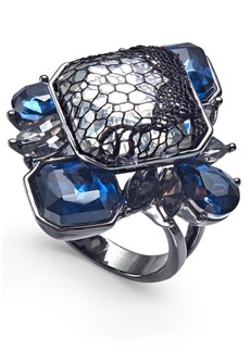 INC International Concepts I.n.c. Hematite-Tone Stone & Lace Statement Ring, Created for Macy's