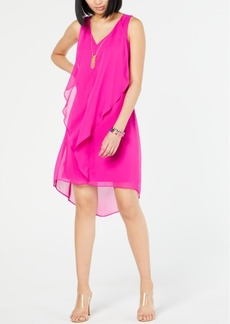 INC International Concepts I.n.c. High-Low Flutter Necklace Dress, Created for Macy's