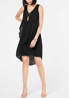 INC International Concepts Inc High-Low Flutter Necklace Dress, Created for Macy's
