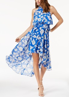 INC International Concepts I.n.c. Petite Printed High-Low Halter Maxi Dress, Created for Macy's