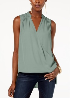 INC International Concepts I.n.c. High-Low Surplice-Neck Top, Created for Macy's