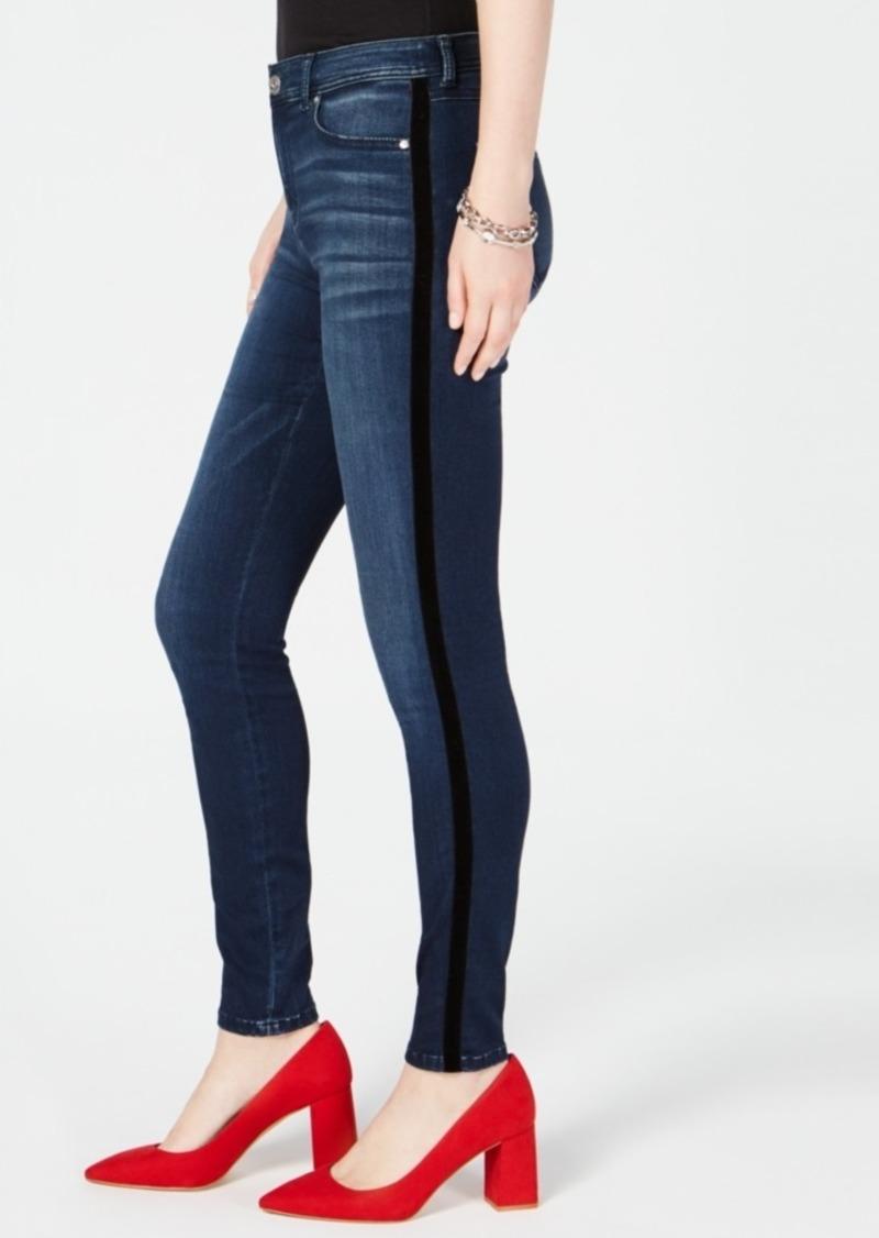f74c7316c155a INC International Concepts I.n.c. Curvy Velvet-Stripe Skinny Jeans ...
