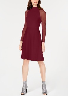INC International Concepts I.n.c. Illusion-Sleeve Sweater Dress, Created for Macy's