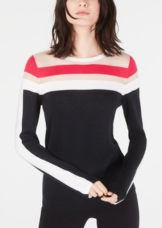 INC International Concepts Inc Illusion-Stripe Sweater, Created for Macy's