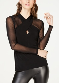 INC International Concepts Inc Illusion Top, Created for Macy's