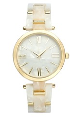 INC International Concepts Inc Imitation Mother-of-Pearl Bracelet Watch 40mm, Created for Macy's