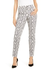 INC International Concepts Inc INCEssential Snake-Print Curvy Skinny Jeans, Created for Macy's