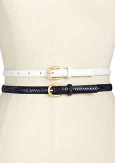 INC International Concepts I.n.c. 2-for-1 Skinny Belts, Created for Macy's