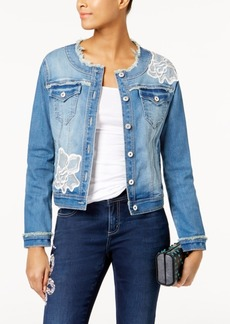 Inc International Concepts Applique Denim Jacket, Created for Macy's