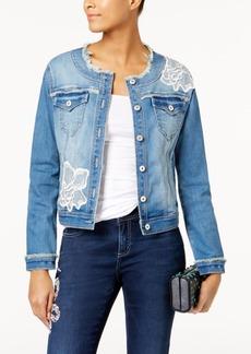 Inc International Concepts Applique Denim Jacket, Created for Macy's