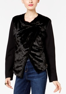 Inc International Concepts Asymmetrical Faux-Fur Jacket, Only at Macy's