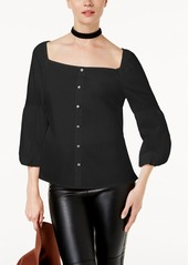 Inc International Concepts Petite Button-Front Top, Created for Macy's