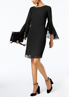 INC International Concepts I.n.c. Petite Bell-Sleeve Shift Dress, Created for Macy's