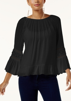 Inc International Concepts Bell-Sleeve Peasant Top, Created for Macy's
