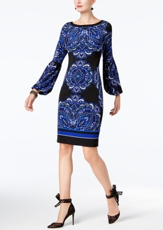 INC International Concepts I.n.c. Petite Printed Peasant-Sleeve Dress, Created for Macy's