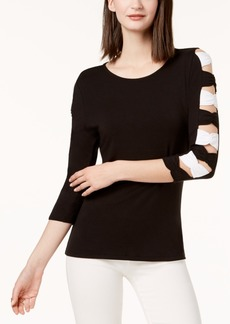 INC International Concepts I.n.c. Bow-Sleeve Top, Created for Macy's