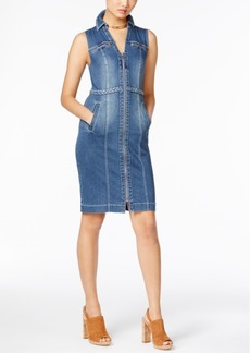 Inc International Concepts Braided-Trim Denim Shirtdress, Only at Macy's