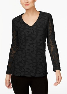 Inc International Concepts Burnout Illusion Top, Only at Macy's